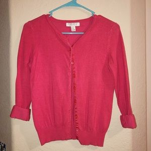 Pink Thick Cardigan